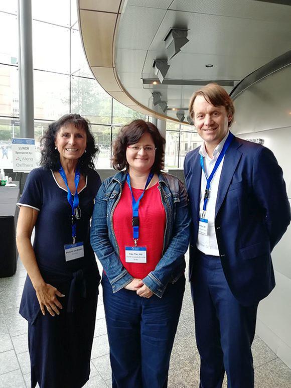 Michaela Sandkaulen, Dr. Anja Pfau/Charité Berlin, Prof. Dr. Felix Knauf (ärztl. Beirat PH-Selbsthilfe e.V.)