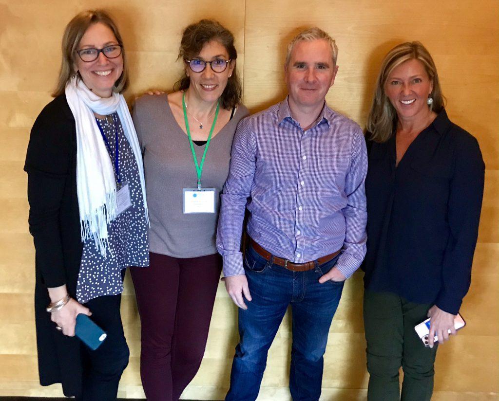 Cara Hesse von Alnylam (Betreuung PH Patienten), Stephanie Schulz, Alan Nolan von Alnylam (Betreuung PH Patienten), Kim Hollaender von der OHF