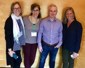 Cara Hesse von Alnylam (Betreuung PH Patienten), Stephanie Schulz, Alan Nolan von Alnylam (Betreuung PH Patienten) Kim Hollaender von der OHF